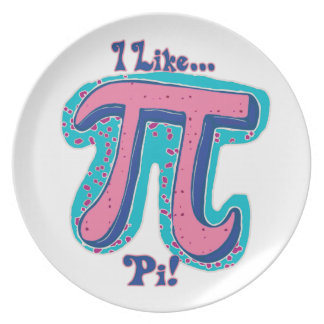 I Like Pi Day Dinner Plate