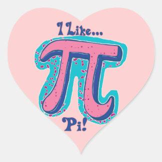 I Like Pi Day Heart Sticker