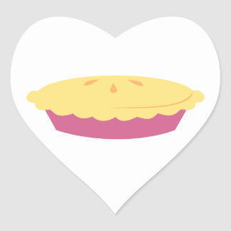 """I Like Pie!"" Heart Sticker"