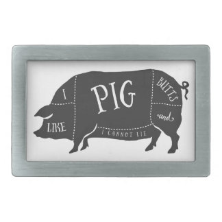 I Like Pig Butts and I Cannot Lie Rectangular Belt Buckle