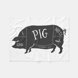 I Like Pig Butts and I Cannot Lie Fleece Blanket