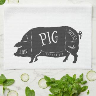 I Like Pig Butts and I Cannot Lie Hand Towel