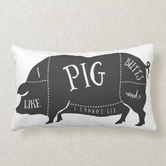 I Like Pig Butts and I Cannot Lie Lumbar Pillow