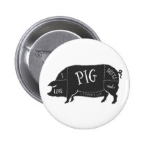 I Like Pig Butts and I Cannot Lie Pinback Button