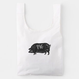 I Like Pig Butts and I Cannot Lie Reusable Bag
