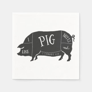 I Like Pig Butts and I Cannot Lie Standard Cocktail Napkin