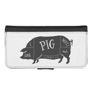I Like Pig Butts and I Cannot Lie Wallet Phone Case For iPhone SE/5/5s