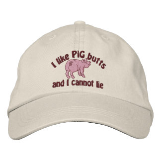 I Like Pig Butts Bacon and This Cute Little Pig Embroidered Baseball Cap