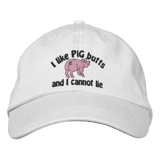 I Like Pig Butts Bacon and This Cute Little Pig Embroidered Baseball Hat