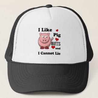 I Like Pig Butts Funny Pork Butt Roast Trucker Hat