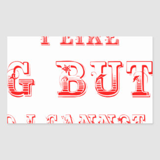 I-like-pig-butts-max-red.png Rectangular Sticker