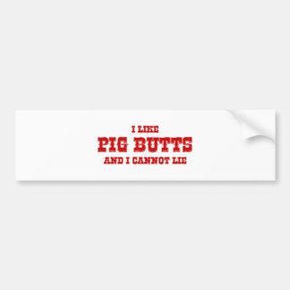 I-like-pig-butts-rio-burg.png Car Bumper Sticker