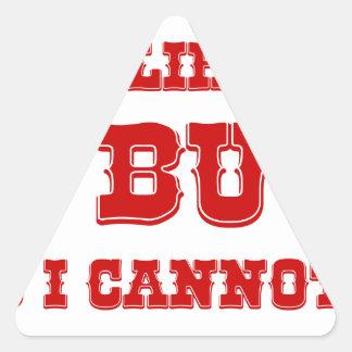 I-like-pig-butts-rio-burg.png Pegatina Triangular