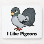 I Like Pigeons Mousepad