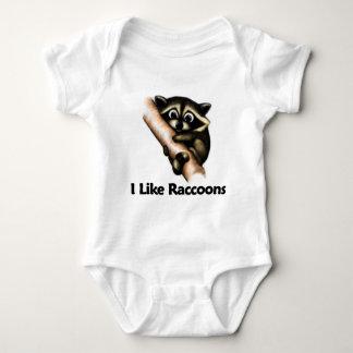 I Like Raccoons Baby Bodysuit
