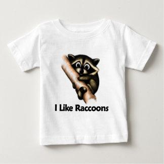 I Like Raccoons Baby T-Shirt