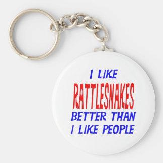 I Like Rattlesnakes Better Than I Like People Keyc Basic Round Button Keychain