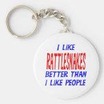 I Like Rattlesnakes Better Than I Like People Keyc Key Chain