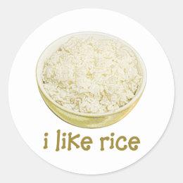 I Like Rice Classic Round Sticker