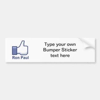 I LIKE RON PAUL BUMPER STICKERS