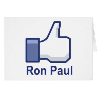 I LIKE RON PAUL CARD