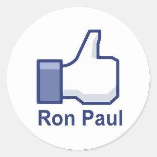 I LIKE RON PAUL CLASSIC ROUND STICKER