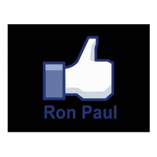 I LIKE RON PAUL POSTCARDS