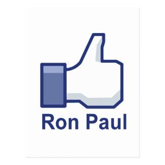 I LIKE RON PAUL POSTCARD