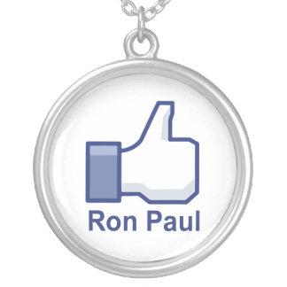 I LIKE RON PAUL ROUND PENDANT NECKLACE