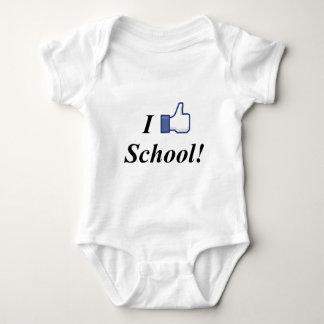 I LIKE SCHOOL! BABY BODYSUIT