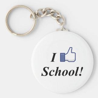 I LIKE SCHOOL! BASIC ROUND BUTTON KEYCHAIN