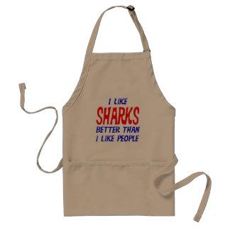 I Like Sharks Better Than I Like People Apron