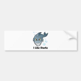 I Like Sharks Bumper Sticker