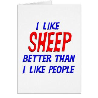 I Like Sheep Better Than I Like People Greeting Ca Card
