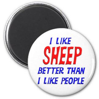 I Like Sheep Better Than I Like People Magnet