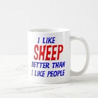 I Like Sheep Better Than I Like People Mug