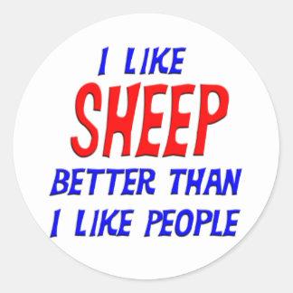 I Like Sheep Better Than I Like People Sticker