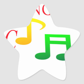 I Like Sing Song Music Star Stickers