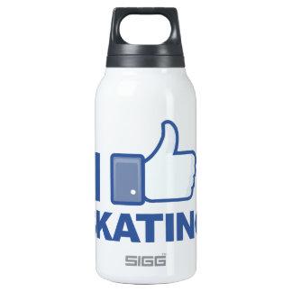 I LIKE SKATING facebook LIKE thumb up graphic Thermos Bottle