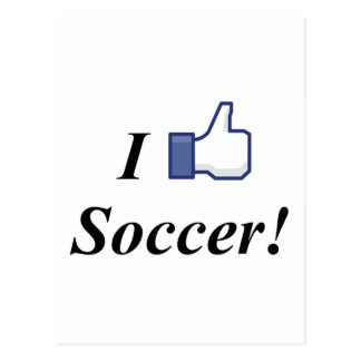 I LIKE SOCCER! POSTCARD