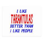 I Like Tarantulas Better Than I Like People Postca Postcard