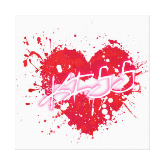 I like the kisses canvas print