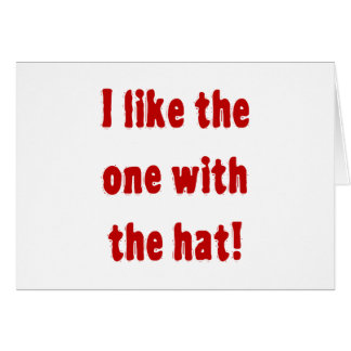 I like the one with the hat! card