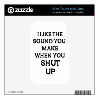 I Like The Sound(1) iPod Touch 4G Decal