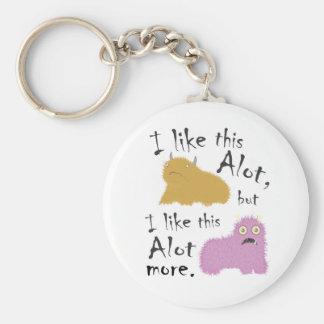 I Like This Alot, But I Like This Alot More Keychain