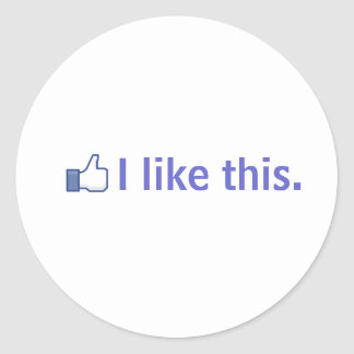 I like this. classic round sticker