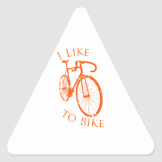 I Like to Bike Triangle Sticker
