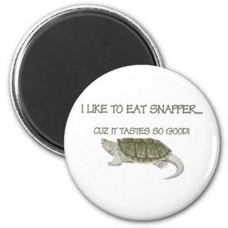 I like to eat snapper.  Hunting, fishing, retro Refrigerator Magnet