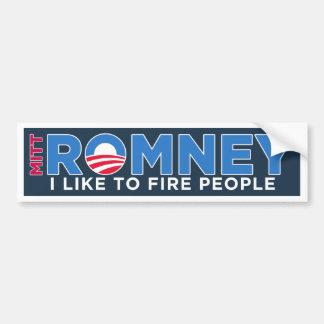 I Like To Fire People Bumper Sticker