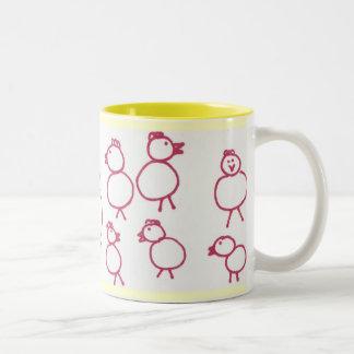I like to hang out with the Chicks! Two-Tone Coffee Mug
